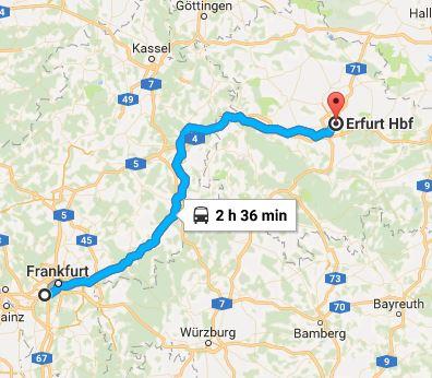 Frankfurt, Erfurt,ICE