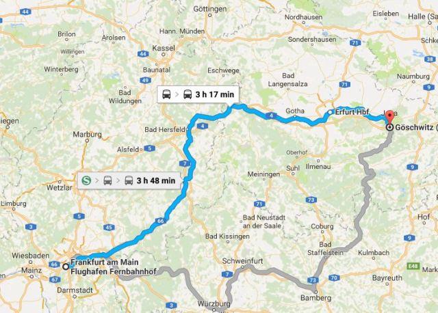 Frankfurt, Jena, Germany, Train Travel, ICE