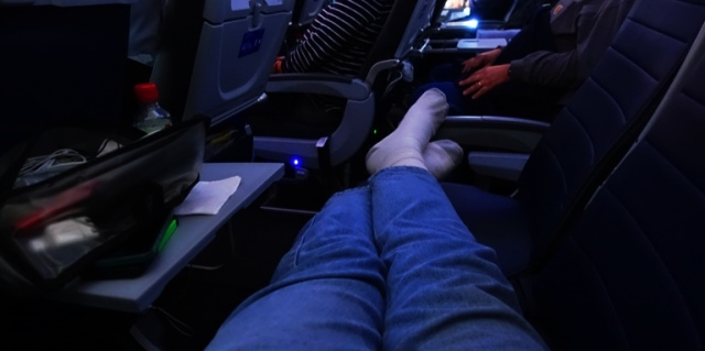 full row, united airlines, frequent flyer, plenty of room