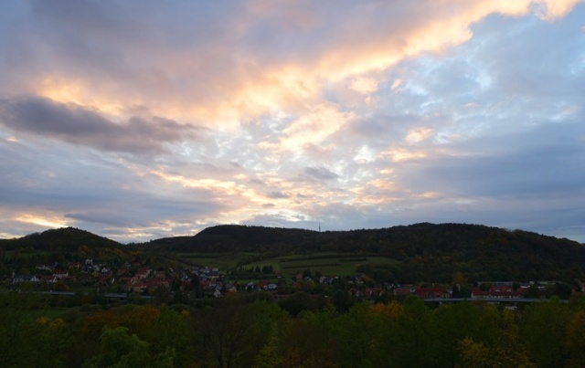 Evening Sky, Cloudy Sky, Jena, Thuringia, Fall