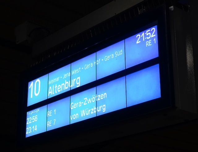 Train Sign, Erfurt, Jena, Germany, Regional train