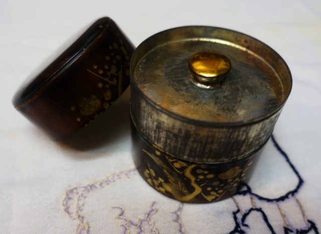 Antique Tea Caddy, Japanese, Chinese, Tea, antique