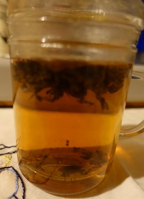 Tea, tea leaves, old tea, infuser