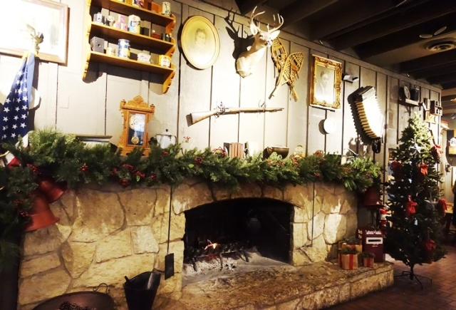 Cracker Barrel Fire Place, Old Country Store, St. Joseph, Missouri