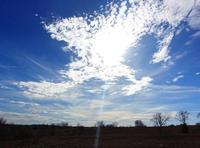 Winter Sky, Smithville Lake, Disc Golf, Black Friday