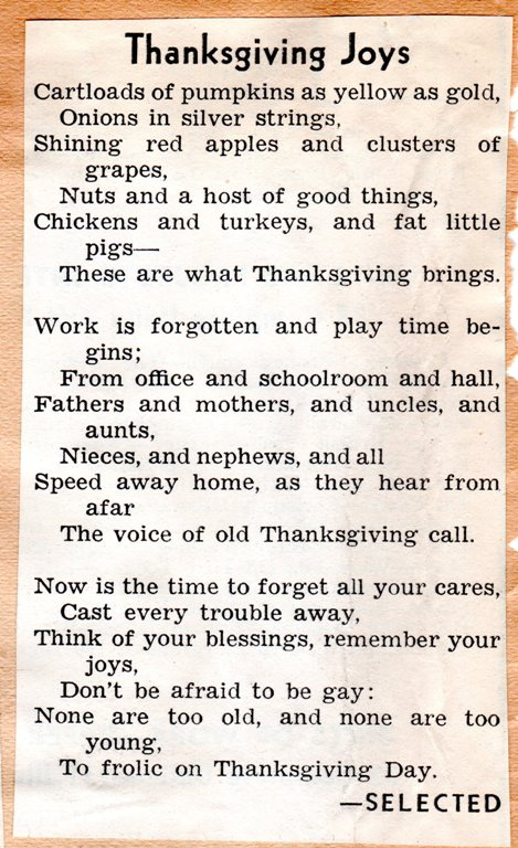 Thanksgiving Poem, pumpkins, apples, grapes, turkeys