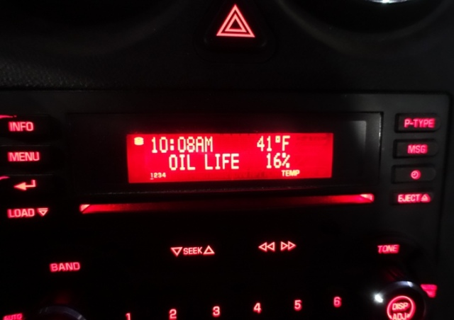 Low Oil Life, Temperature, Cold Walk, Car work