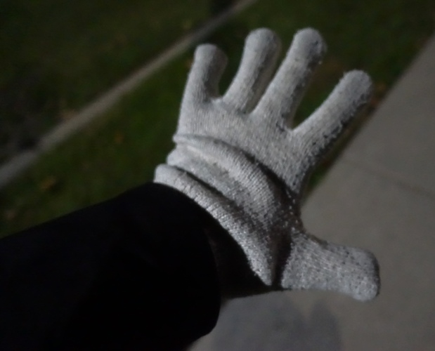 White Gloves, Cold Weather Walking