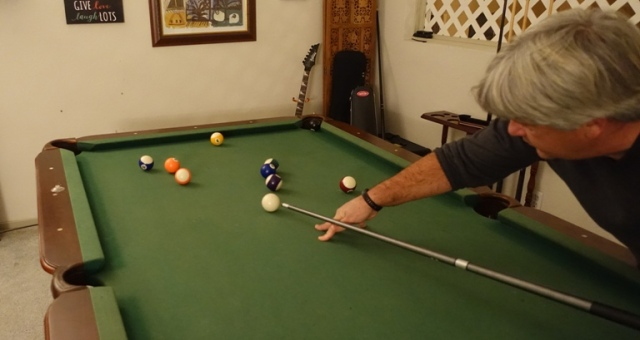 Playing pool, Holiday fun, Christmas