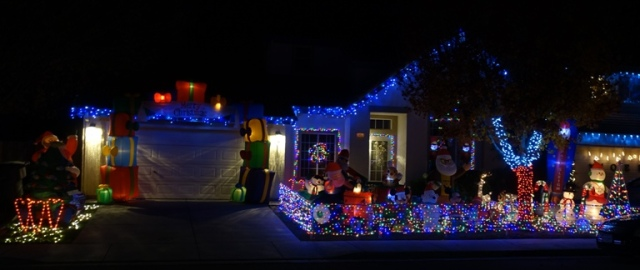 Inflatables, decorations, Colorful Holiday Display
