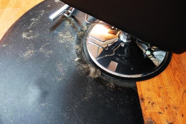 Hair on floor, Hair clippings