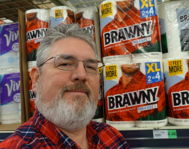 Brawny Paper Towls, Flannel Shirt, Red Shirt, Beard
