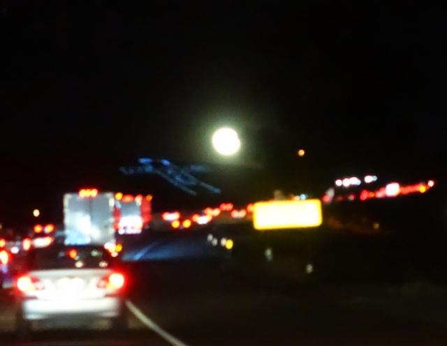 Altamont Pass, Moon, Full Moon, Traffic, Altamont Cross