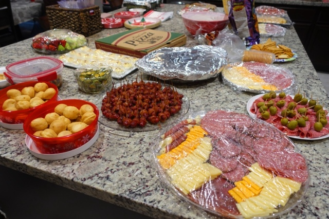 party time, finger foods, cheese, meats, bacon, yummy