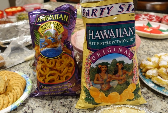 Hawaiian Chips, Onion Rings, Party food