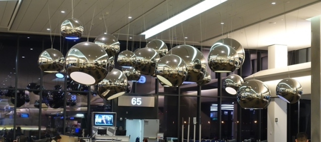 Lights, Terminal, Airport, SFO, Waiting for flight