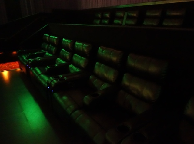 reclining theater seats, lounge chairs, cinemark theater, Star Wars