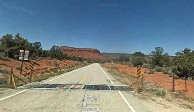 Cattle Guard, Utah Highway, Virtual Hike