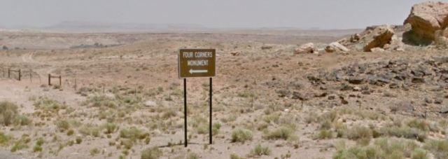 Four Corners, New Mexico, Monument, Virtual Hike, Google Maps