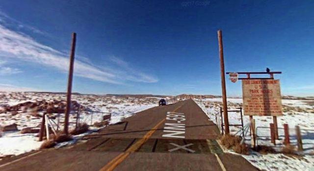 Four Corners Monument, Snow, New Mexico, Virtual Hike