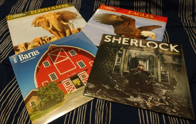 Calendars, 2018 Calendars, Barns, Sherlock, National Geographic