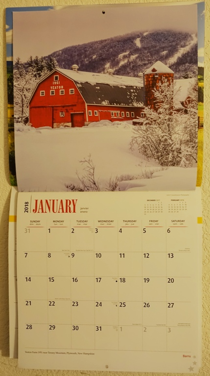 Barn Calendar, Plymouth, New Hampshire, Red Barn, Snow, Memories