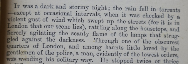 It was a dark and stormy night, full sentence, Paul Clifford, Edward Bulwer-Lytton