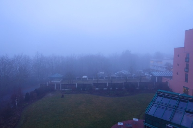 Jena, Germany, Maxx Hotel, Foggy Morning