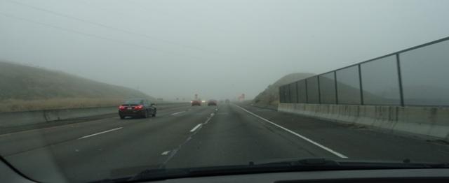 Altamont Pass, Fog, Foggy Commute