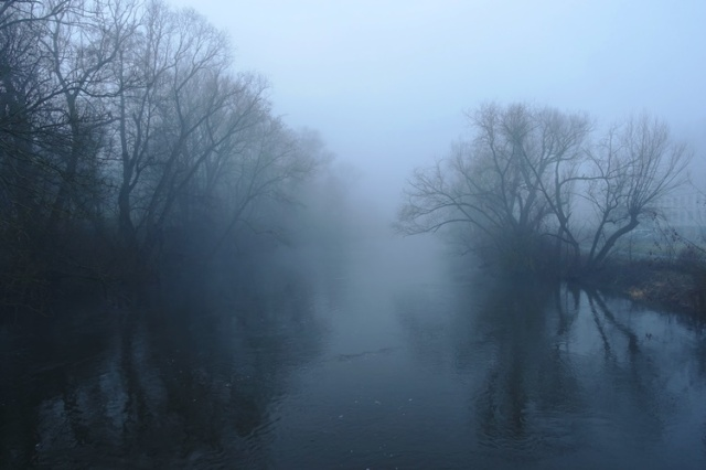 River Saale, Jena, Germany, Foggy walk