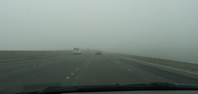 Foggy Day, Foggy Commute, Altamont, Dangerous Driving