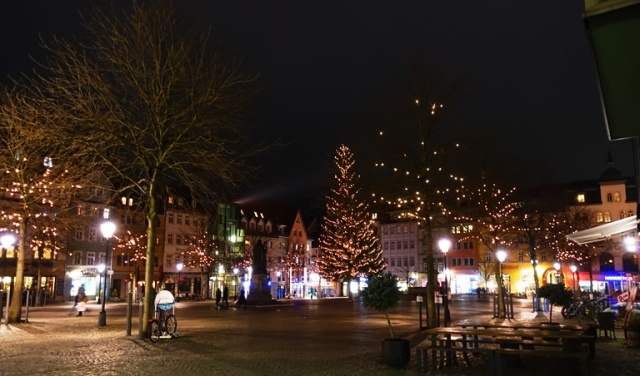Jena Market Square, Jena, Germany, Winter Lights