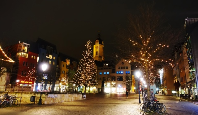 Jena, Germany, Market Square, Winter, culture