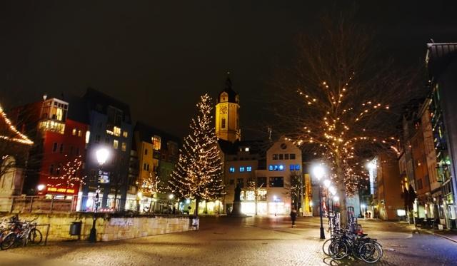 Jena, Germany, Market Square, Winter, culture