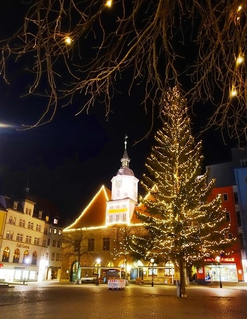Winter Scene, Market Place, Jena, Germany