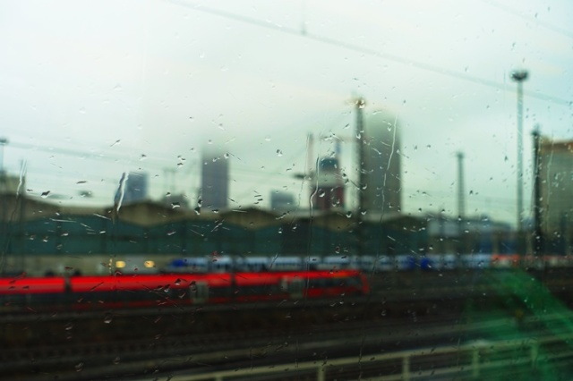 Trains, Germany, Frankfurt, Rainy Day, Travel Day