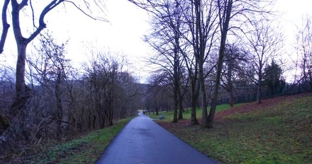 Walk to work, Winter, Jena, Germany