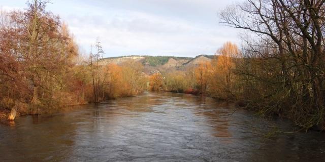 Saale River, Jena, Germany, Winter View