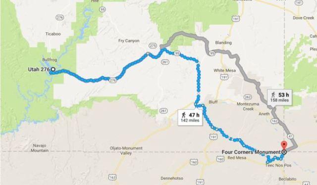 Virtual Hike to Four Corners, Google Maps, Utah, Colorado, New Mexico, Arizona