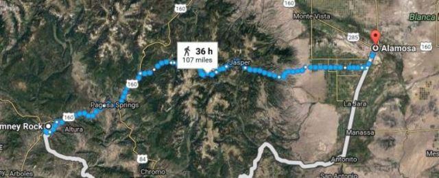 Chimney Rock, Alamosa, Colorado, Virtual Hike, Google Maps