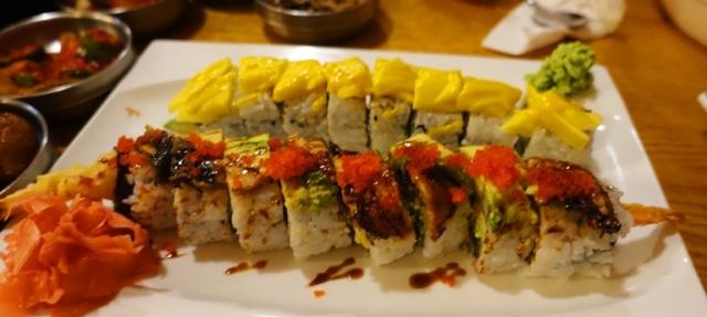 Sushi, Black Dragon Sushi, mango Sushi