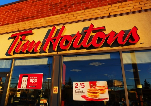 Tim Hortons, Toronto, Canada, Morning, Breakfast