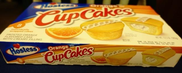 Hostess CupCakes, Snack Cakes, orange cupcakes, food