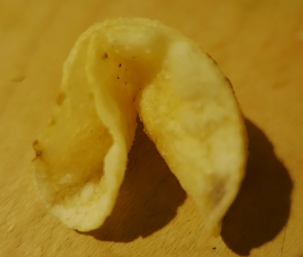 Fortune Cookie shaped Potato Chip, Shaped Chips