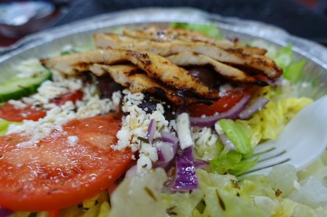 Greek Salad, Mr. Greek, lunch