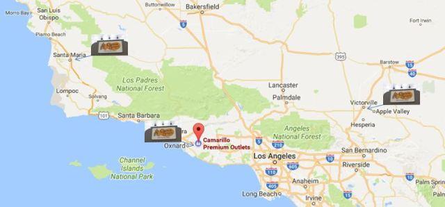Cracker Barrel Map, California Cracker Barrels