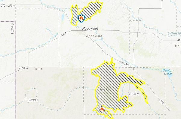 Oklahoma Fires, 34 Complex Fire, Rhea Fire, wild fires