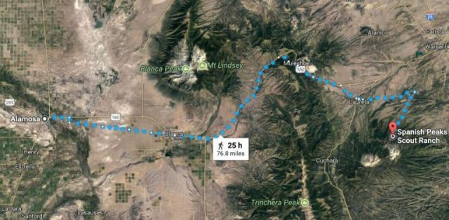 Alamosa to Spanish Peaks Scout Ranch, Virtual Hike, Mountains
