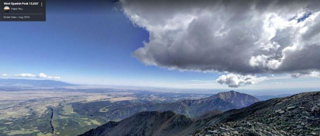 West Spanish Peak, Google Maps View, Spanish Peaks, Virtual Hike