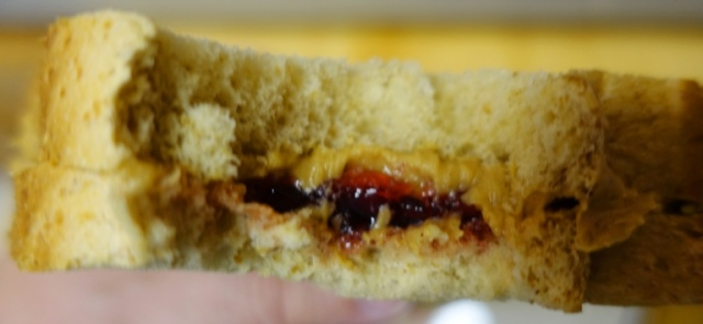 Pomegranate Jelly, Jif Peanut Butter, PBJ, sandwich